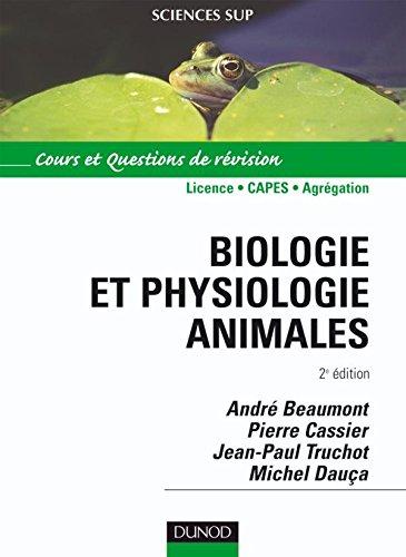Biologie et physiologie animale : Cours et questions de révision