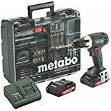 Metabo BS 18 LT Set Akku-Bohrschrauber, 18 V / 2,0 Ah, Mobile Werkstatt, 602102600