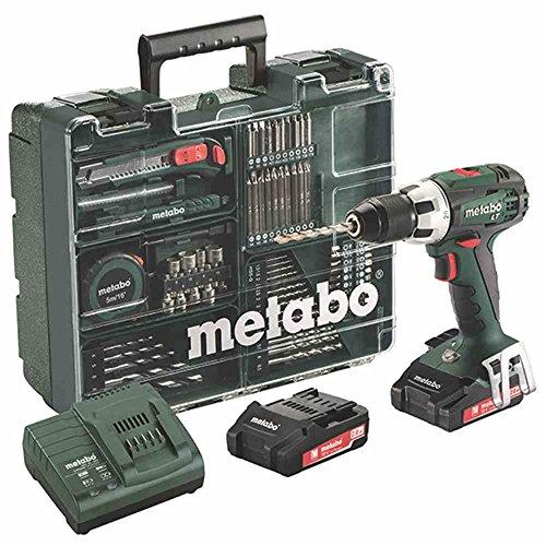 Preisvergleich Produktbild Metabo BS 18 LT Set Akku-Bohrschrauber, 18 V / 2,0 Ah, Mobile Werkstatt, 602102600