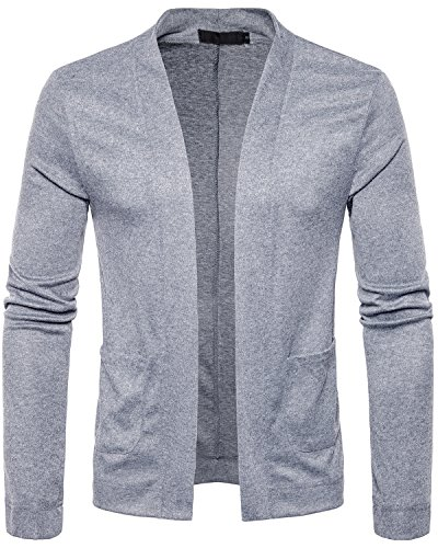 Sankill Herren leichte Strickjacke Classic Lightweight Cardigan vorne offen gestrickter Pullover (Cardigan Lightweight Open-front)