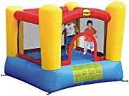 Happy Hop 9003 Bouncy Castle with Safety Enclosure, Air Blower, Ground Anchors, Repair Kit and Carry Bag, Mult