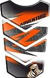 Motorrad Gas Displayschutzfolie Aufkleber/3D Gummi Fuel Tank Pad Tankpad Displayschutzfolie Aufkleber für Honda KTM 1050 1090 1190 1290 Adventure AdventureR R Adventure-R (Weiß/Schwarz/Orange)