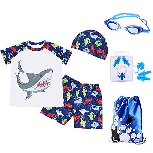 RETON Traje de baño para niños Traje de baño Juegos de Estampado de Dinosaurios Shark con Diferentes...