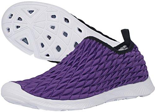 Gaatpot BADESCHUHE Damen Herren Strand Aquaschuhe Wasserschuhe Surfschuhe Rutschfest Strandschuhe Schwimmschuhe Sommer Aqua Schuhe Violett-A 44