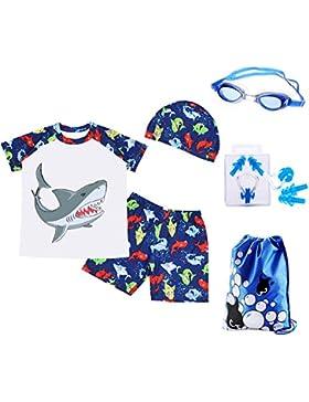 RETON Traje de Baño para Niños Traje de Baño Juegos de Estampado de Dinosaurios Shark con Diferentes Equipos de...