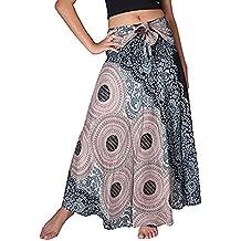Gusspower Faldas Largas Bohemias con Cordones Faldas Hippies Mujer Largas  Verano Falda Estampada Faldas De Corta 0e0e7ddbc6c3