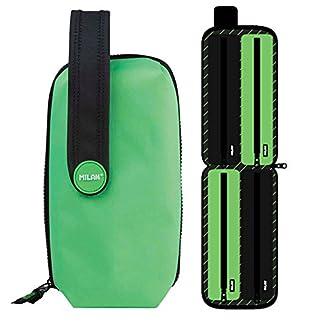 Estuche Milan Fluo Green Handly Multipencilcase 31 Piezas