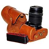First2savvv XJPT-70D-09 Funda Cámara cuero de la PU cámara digital bolsa caso cubierta con correa...