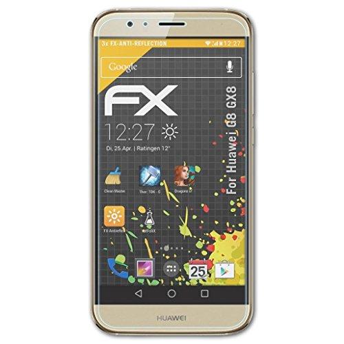 atFolix Panzerfolie kompatibel mit Huawei G8 GX8 / G7 Plus Schutzfolie, entspiegelnde & stoßdämpfende FX Folie (3X)