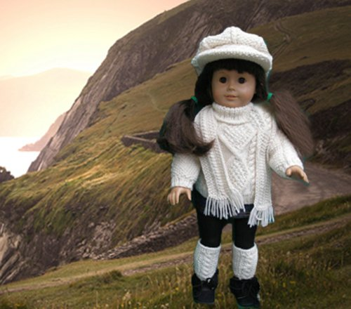 Irish Sweater Outfit Knitting Pattern for 18 Inch Dolls (English Edition)