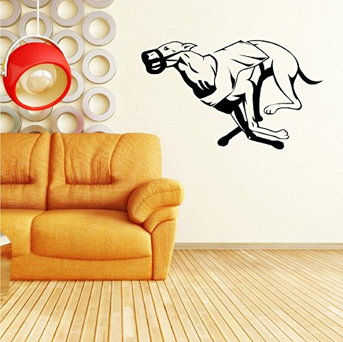 greyhound-racing-dog-vinilo-pared-arte-adhesivo