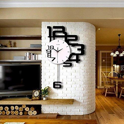 Personnalité du ménage muet horloge murale mur salon chambre quartz horloge ( taille : 50*80cm )