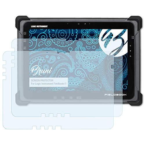 Bruni Schutzfolie für Logic Instrument Fieldbook I1 Folie, glasklare Displayschutzfolie (2X)