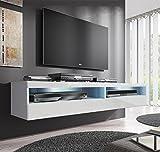 Muebles Bonitos –Mueble TV modelo Tobic (160 cm) en color blanco