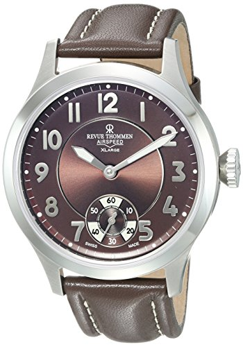 Revue Thommen Men's 21012-2537 Airspeed XLarge Retro Analog Display Mechanical Hand Wind Brown Watch
