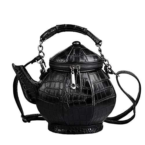SinceY einzigartige kreative Retro Teekannen-Geldbeutel, Teekanne geformte Crossbody-Handtasche Top-Griff Tote-Frauen Schultertaschen, neue Blick neue versuchen Street Fashion Modern Damentasche