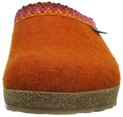 Haflinger Francisco, Chaussons mixte adulte Orange - Orange (Rost 243)