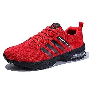 PAMRAY Laufschuhe Damen Air Turnschuhe Herren Sports Sneaker Trekking Running Outdoors Walkingschuhe 36-47 Schwarz Blau Braun Rot Weiss