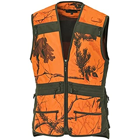 Pinewood Chaleco de caza hombre, hombre, Jagdweste, Realtree AP Blaze HD/Moosgrün