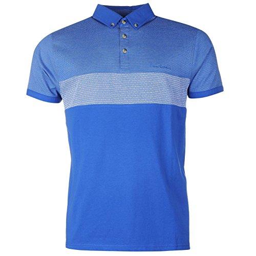 pierre-cardin-3panel-polo-camiseta-para-hombre-azul-parte-superior-camiseta-tee-azul-large