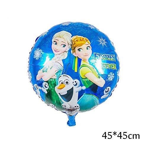 RZRCJ Luftballons (Spielzeug) 93 * 55 cm Große Belle Princess Folienballons Baby Geburtstagsfeier Dekoration Helium Ballons Kindergeschenk, Runde 4
