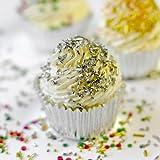 Codette di zucchero argento 80g - sugar strands cake design