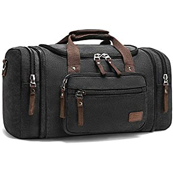Dusk European Duffel Style Carry On Sports Travel Bag with Shoulder Strap Zippered Compartments