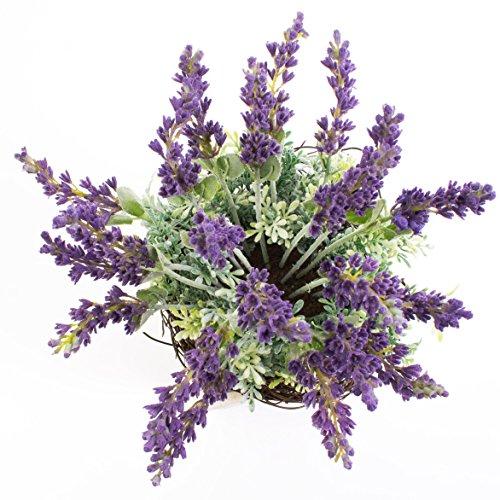 Kunstblume Lavendel Sedum Arrangement im Topf 28 cm
