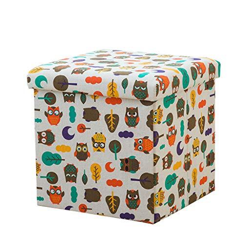 JYFK-Fußhocker Square Ottoman Cube mit Aufbewahrung Fußstütze Hocker Sitz Faltbare Aufbewahrung Ottoman Square Toy Chest Gepolstert mit Memory Foam Lid Sofa für Platzersparnis