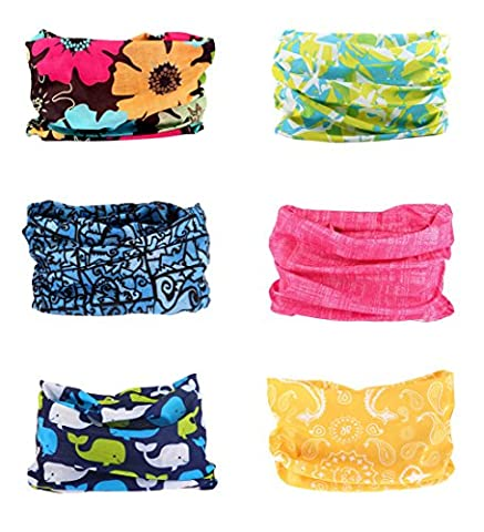 Sports Seamless Tube Headwear Bandana Scarf Multifunctional Elastic Neckwarmer for Yoga Hiking Riding Motorcycling Contrast