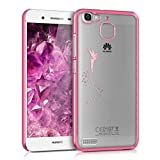 kwmobile Huawei GR3 / P8 Lite SMART Hülle - Handyhülle für Huawei GR3 / P8 Lite SMART - Handy Case in Pink Transparent