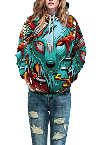 Unisex 3D Galaxy Druck Kapuzenpullover Cartoon Sweatshirt Weihnachten Langarm Top Shirt Herbst Spaß Hoodie für Teens Pullover 07