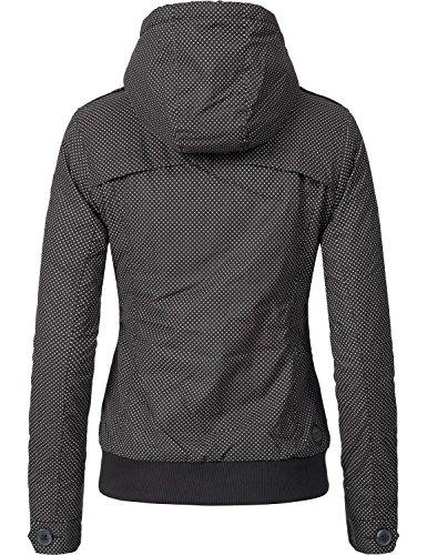 Ragwear Damen Jacke Winterjacke Ewok (vegan hergestellt) 7 Farben XS-XL  Schwarz