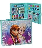 alles-meine.de GmbH 52 TLG. Set __ Stifte-Koffer -  Disney die Eiskönigin - Frozen  - Malkoffer mit Stiften + Filzstifte + Buntstifte + Sticker + Wasser Farben + Wachsmal Farb..