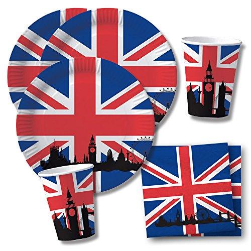 t Großbritannien - England - Union Jack - Teller Becher Servietten für 10 Personen ()