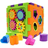 Wishtime Cube Rattles Activity Toy Play & Learn Shape Sorting Box