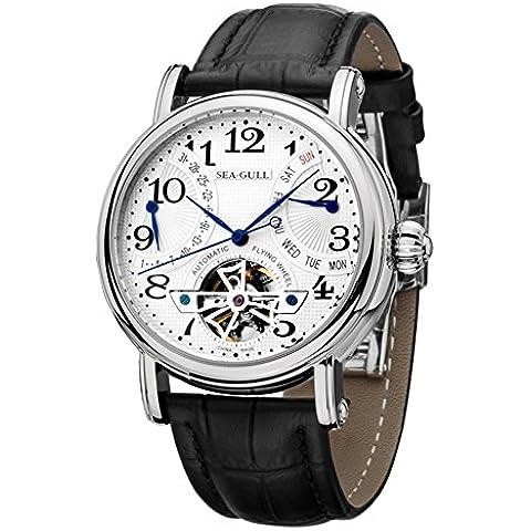 sea-gull gabbiano orologio M171S uomini moda automatico in acciaio meccanico impermeabile zaffiro sintetico cinturino in (Scheletro Orologio Da Tavolo)