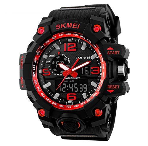 ZUZEN Neue männer sportuhren große zifferblatt Quarz digitaluhr für männer luxusmarke led militärische Wasserdichte männer armbanduhren,Red
