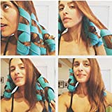 Cartshopper 8pcs Hair Rollers Sleep Styler Kit Long Cotton Curlers DIY Styling Tools Blue Color Magic Hair Dressing Charming Hairstyle