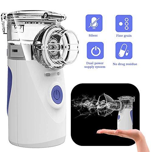Inhalator Vernebler, Dampf Tragbarer Mini Hand Ultraschall Kompressor Vernebler Reise Kompressor Luftbefeuchter mit kühlem Nebel Inhaler Kits für Kinder Erwachsene
