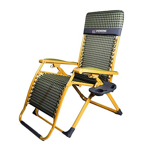 LIX-XYD Liege Zero Gravity Chair Patio Chaise Lounge Chairs Außen Yard Pool Strand Lehnstuhl Folding Lounge Chair mit Becherhalter (Farbe: A) (Color : A)
