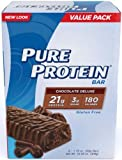 Pure Protein Chocolate Deluxe - 50g High Protein Bar - 19g Protein - 6 Bars (Chocolate)