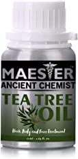 Tea Tree Essential Oil for Body,Hair and Face,50ml 100% Pure and Natural from Maester