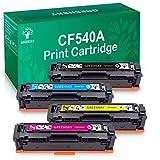 GREENSKY 4 Paquets Compatible pour HP CF540A 203A Cartouche de Toner pour HP Color...