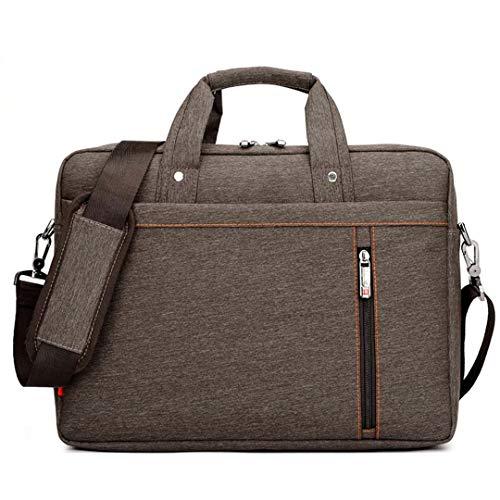 wasserdichte Computer Laptop Taschen Notebook Tablet Case Messenger Schultertasche für Männer/Frauen 13 14 15 17 Zoll Brown 14 Inches (Kenneth Cole Aktentasche Braun)