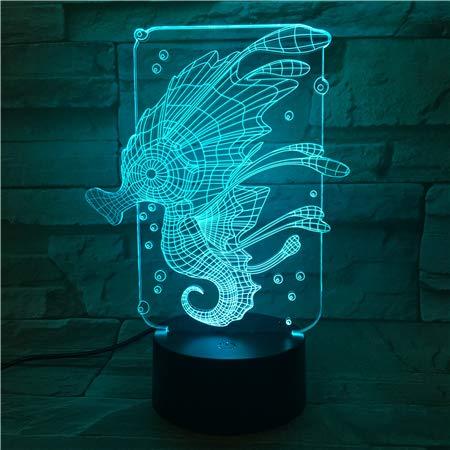 Tier Hippocampus Nachtlicht Touch Sensor Farbwechsel dekoratives Licht Kinder Baby Kit Nachtlicht Hippocampus