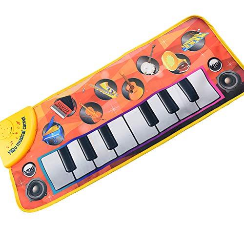 (Eizur Musikalische Klaviermatte Baby Früherziehung Spielzeug Musik-Klavier-Decke Tippen Sie auf Wiedergabe Singende Tastatur Lustiges Spielzeug für Kinder)