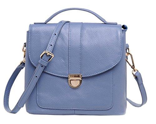 SAIERLONG Nuovo Donna Blu Pelle Bovina Genuina Borse Tracolle Blu