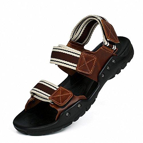sandali in pelle traspirante uomini di estate sandali sandali 2017 sandali degli uomini di cuoio e pantofole bba895 brown
