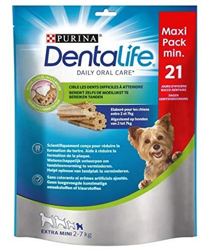 Purina DentaLife Bã ¢ Tonnets für Hunde Extra-Mini 2 bei 7kg Texture Alva © Ola © E Einfache ¢ Lieber Maxi 207g Format (Satz 4 Taschen) Má 1 -